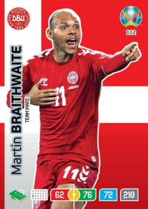 EURO 2020 TEAM MATE Martin Braithwaite #112