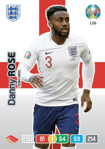 EURO 2020 TEAM MATE Danny Rose #126