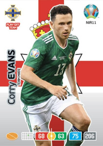 EURO 2020 TEAM MATE Corry Evans #NIR11