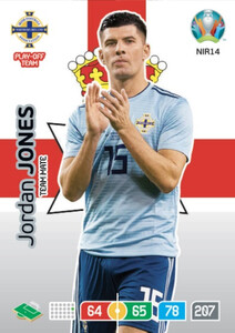 EURO 2020 TEAM MATE Jordan Jones  #NIR14