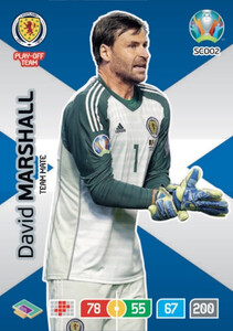 EURO 2020 TEAM MATE David Marshall #SCO02