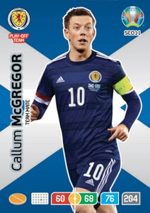 EURO 2020 TEAM MATE Callum McGregor #SCO11