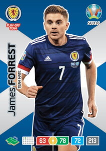 EURO 2020 TEAM MATE James Forrest #SCO16