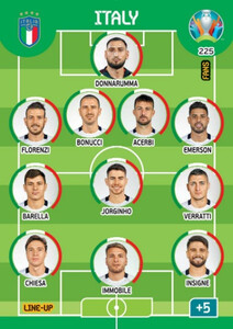 EURO 2020 LINE-UP Italy #225