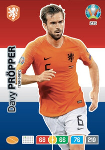 EURO 2020 TEAM MATE Davy Propper #235