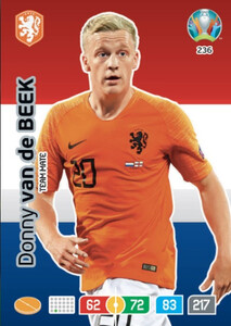 EURO 2020 TEAM MATE Donny van de Beek #236