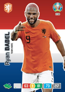 EURO 2020 TEAM MATE Ryan Babel #238