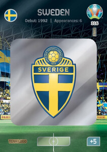 EURO 2020 TEAM LOGO Sweden #316