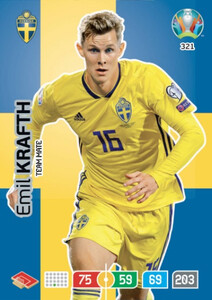 EURO 2020 TEAM MATE  Emil Krafth #321