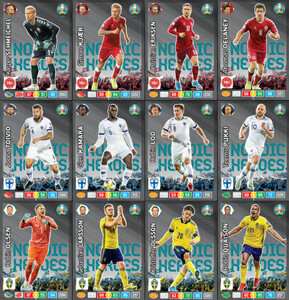EURO 2020 NORDIC HEROES set 12 cards