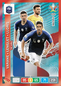 EURO 2020 MULTIPLE - THE WALL Varane / Lenglet / Lloris #436