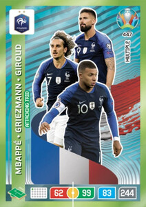 EURO 2020 MULTIPLE - MIDFIELD ENGINES Mbappe / Griezmann / Giroud #447