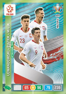 EURO 2020 MULTIPLE - MIDFIELD ENGINES Lewandowski / Piątek / Milik #449