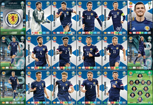 EURO 2020 TEAM Scotland set 18 cards