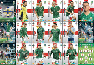 EURO 2020 TEAM Northern Ireland set 18 cards