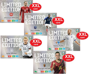 EURO 2020 LIMITED XXL  set 5 Cards