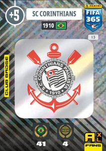2021 FIFA 365 CLUB BADGE LOGO Corinthians #13