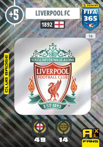 2021 FIFA 365 CLUB BADGE LOGO Liverpool #16