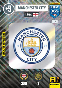 2021 FIFA 365 CLUB BADGE LOGO Manchester City #19