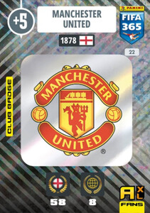 2021 FIFA 365 CLUB BADGE LOGO Manchester United #22