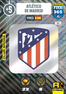 2021 FIFA 365 CLUB BADGE LOGO Atletico de Madrid #25