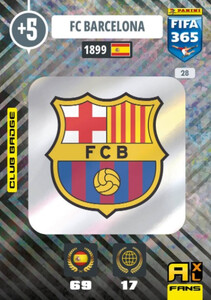 2021 FIFA 365 CLUB BADGE LOGO FC Barcelona #28