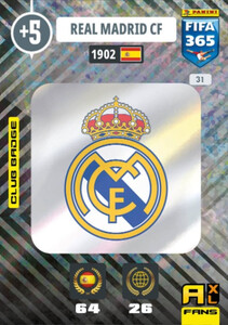 2021 FIFA 365 CLUB BADGE LOGO Real Madrid CF #31