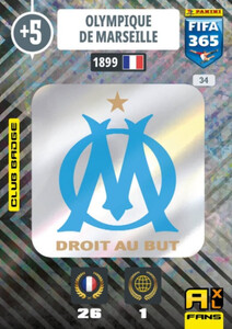 2021 FIFA 365 CLUB BADGE LOGO Olympique de Marseille #34