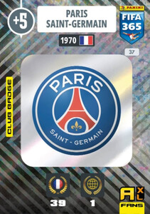 2021 FIFA 365 CLUB BADGE LOGO Paris Saint-Germain PSG #37