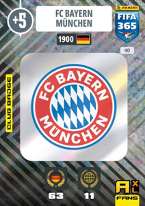 2021 FIFA 365 CLUB BADGE LOGO FC Bayern Munchen #40