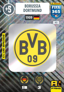 2021 FIFA 365 CLUB BADGE LOGO Borussia Dortmund #43