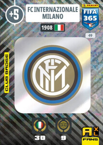 2021 FIFA 365 CLUB BADGE LOGO FC Internazionale Milano #49