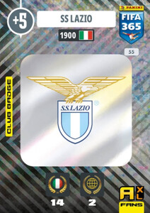 2021 FIFA 365 CLUB BADGE LOGO SS Lazio #55