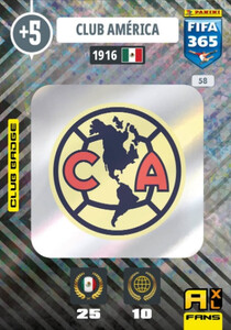 2021 FIFA 365 CLUB BADGE LOGO Club America #58