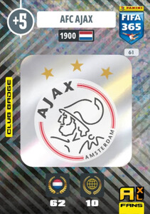 2021 FIFA 365 CLUB BADGE LOGO AFC Ajax #61