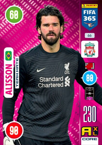 2021 FIFA 365 TEAM MATE Alisson #66
