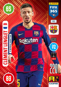 2021 FIFA 365 TEAM MATE Clement Lenglet #92