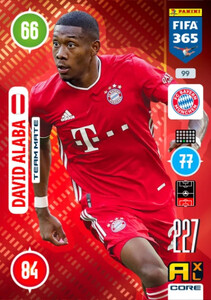 2021 FIFA 365 TEAM MATE David Alaba #99