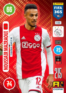 2021 FIFA 365 TEAM MATE Noussair Mazraoui #122