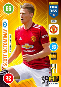 2021 FIFA 365 TEAM MATE Scott McTominay #138