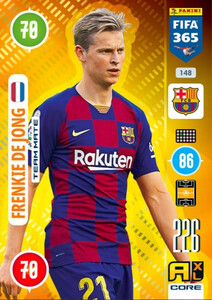 2021 FIFA 365 TEAM MATE Frenkie de Jong #148