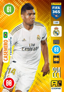 2021 FIFA 365 TEAM MATE Casemiro #149