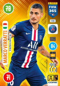 2021 FIFA 365 TEAM MATE 	Marco Verratti #156