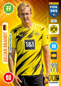 2021 FIFA 365 TEAM MATE Julian Brandt #163