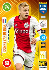 2021 FIFA 365 TEAM MATE Donny van de Beek #181