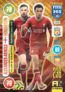 2021 FIFA 365 CLUB & COUNTRY Alexander-Arnold / Henderson #234