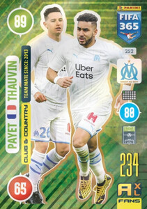 2021 FIFA 365 CLUB & COUNTRY Payet / Thauvin #252
