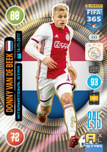 2021 FIFA 365 INTERNATIONAL STAR Donny van de Beek #333