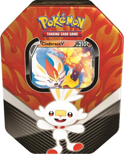 Pokemon TCG Power Tin Galar Partners CINDERACE V