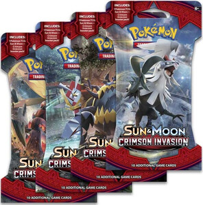 Pokemon TCG Sun & Moon Crimson Invasion Booster Pack